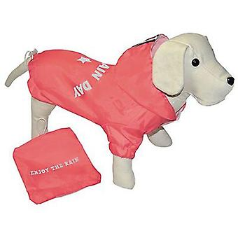 Nayeco Enjoy waterproofs Rain Day (Coral) 20 cm. (Dogs , Dog Clothes , Raincoats)