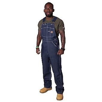 Berne Authentic American Work Dungarees - Indigo Mens denim dungaree Bib overall