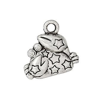 Packet 10 x Antique Silver Tibetan 14mm Cancer Charm/Pendant ZX12715