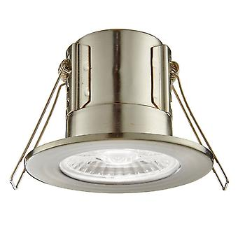 Saxby Lighting Shield Eco 500 IP65 4W 4000K Dimmable LED Downlight In Satin Nickel