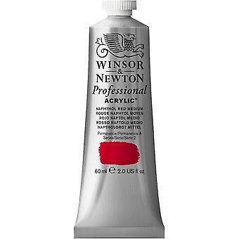 Winsor & Newton professionella akryl 60ml - 423 naftol röd Medium (S2)