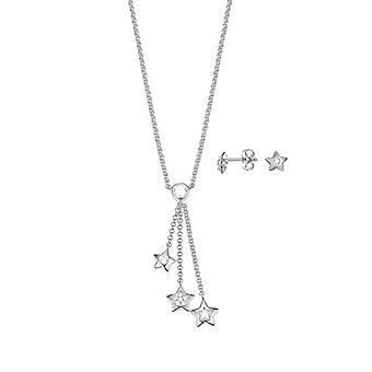 ESPRIT ladies necklace jewelry set JW52884 silver cubic zirconia star ESSE01033A400