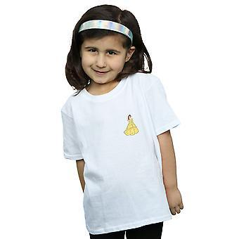 Disney Princess Mädchen Belle Brust T-Shirt