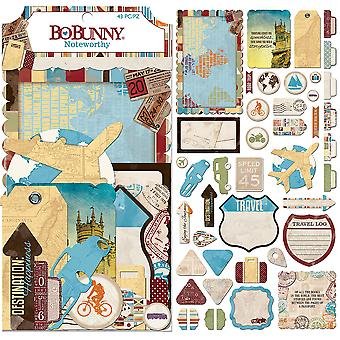World Traveler Noteworthy Die-Cuts 43/Pkg-