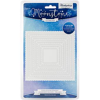 Hunkydory Moonstone Dies-Scalloped & Straight Nesting Squares