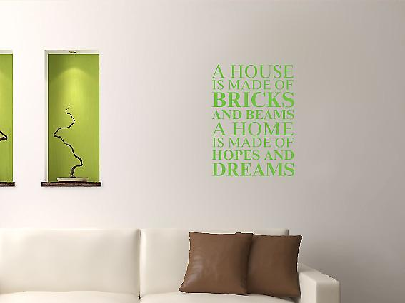 A house is made of Wall Art Sticker - Apple Green