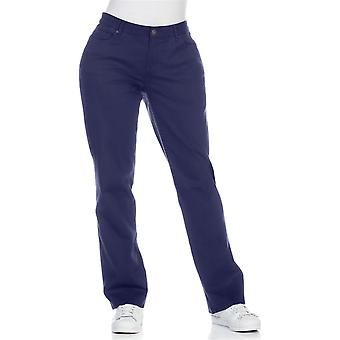 sheego casual stretch trousers large size short size blue