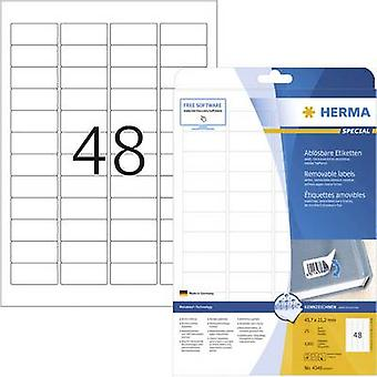 Herma 4346 Labels 45.7 x 21.2 mm Paper White