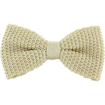 Michelsons of London Silk Knitted Bow Tie - Cream