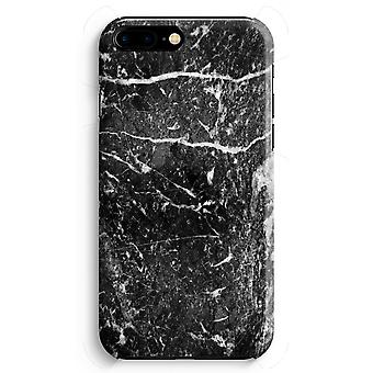 iPhone 8 Plus Full Print Case (Glossy) - Black marble