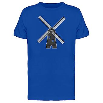 Windmill Holand Symbol Doodle Tee Men's -Image by Shutterstock