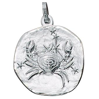 Trailer Zodiac cancer 925 sterling silver frosted zodiac sign pendant