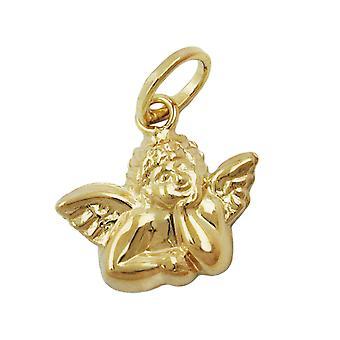 Guardian Angel pendant gold 375 Angel pendants, Angel shiny, 9 KT GOLD