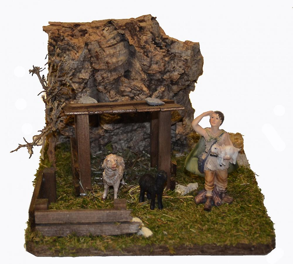 Nativity accessories Christmas Nativity stable animal shelter with figures