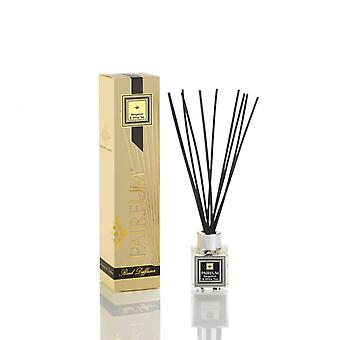 Natural Reed Diffuser - Long-lasting & Healthy - Beautiful Perfumes that Compliment You - Fragrance for 2-3 months (50 ml) - Bergamot & White Tea by PAIRFUM - Black Reeds - Glass Cube