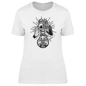 Horned Skull On Potion Bottle Tee Women's -Image by Shutterstock