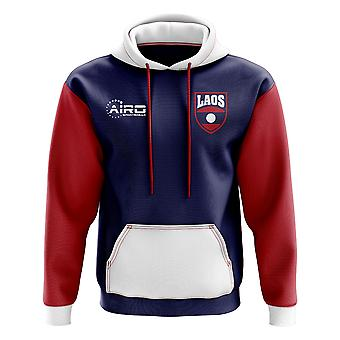 Laos concetto Football paese Hoody (Navy)