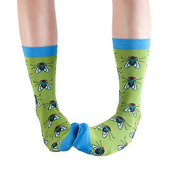 The Fly women's soft bamboo crew socks in lime green | By Doris & Dude