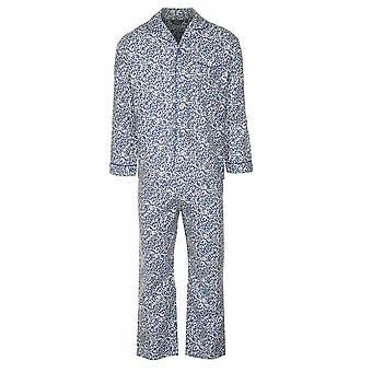 チャンピオン メンズ ペイズリー暖かい起毛コットン パジャマ ラウンジウェア