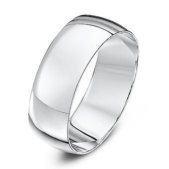 Star Wedding Rings 18ct White Gold Light D 7mm Wedding Ring