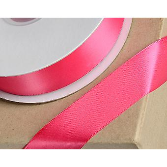 23mm Fuchsia Pink Satin Ribbon for Crafts - 25m | Ribbons & Bows for Crafts