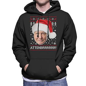 Attenbrrrrrr David Attenborough Christmas Knit Men's Hooded Sweatshirt