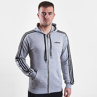 adidas 3 Stripe Full Zip French Terry Hoodie
