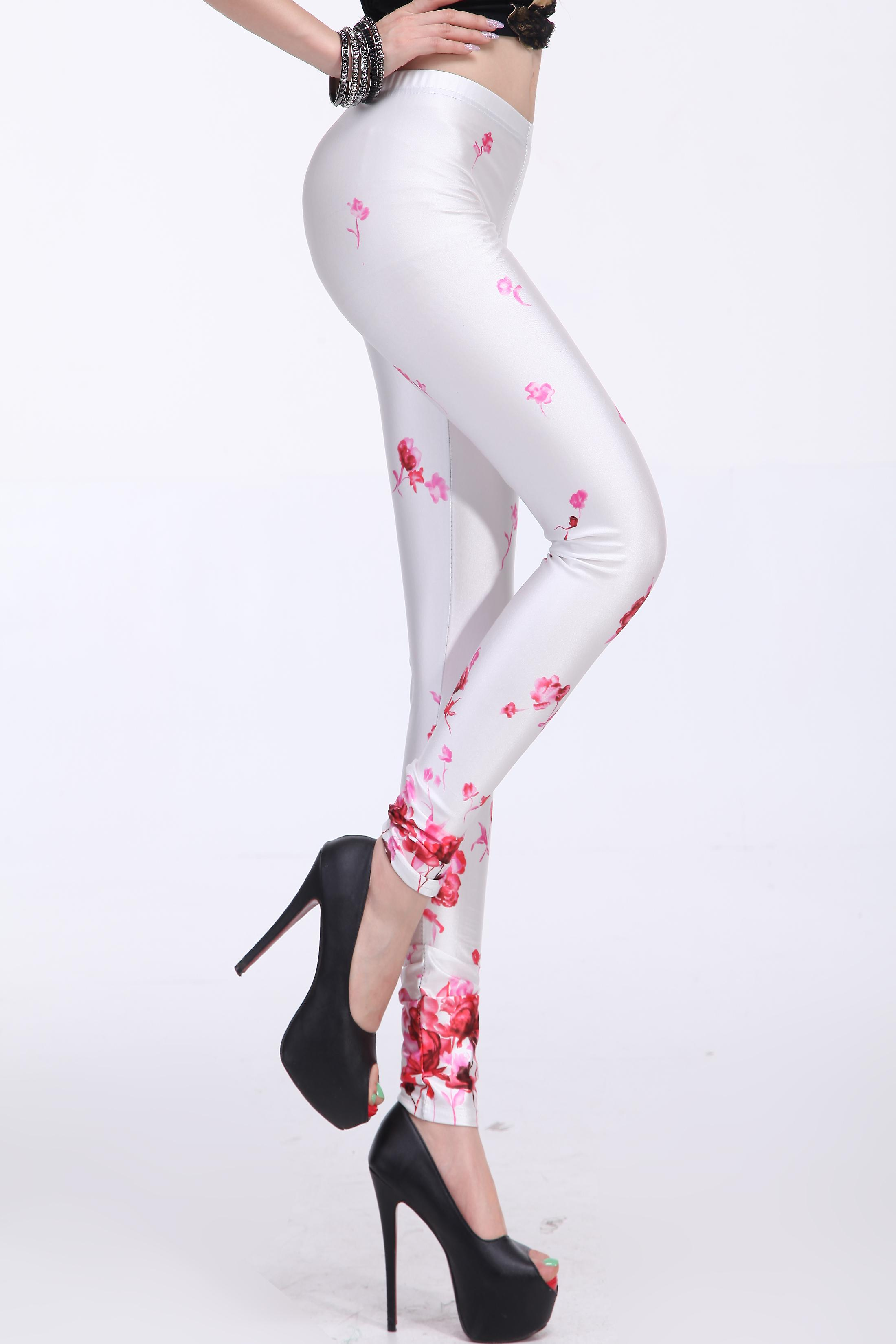 Waooh - Fashion - Leggings Flower Pattern
