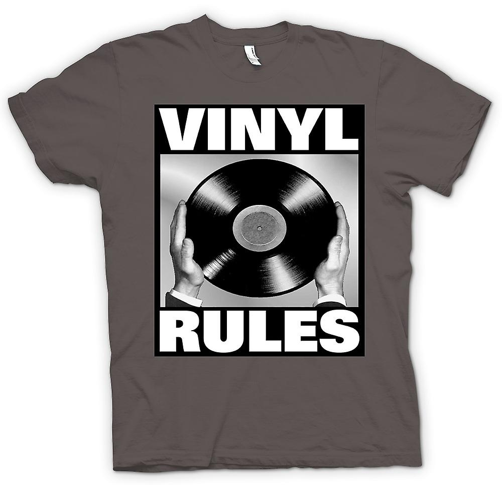 Womens T-shirt - Vinyl Rules - DJ Mixing