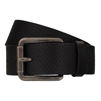 TOM TAILOR belt leather belts men's belts jeans belt black 7751