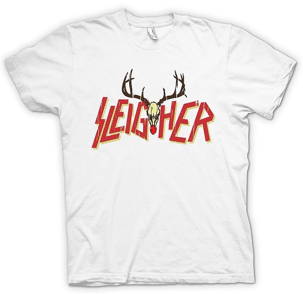 Womens T-shirt - Sleigher Rock Metal Inspired Christmas