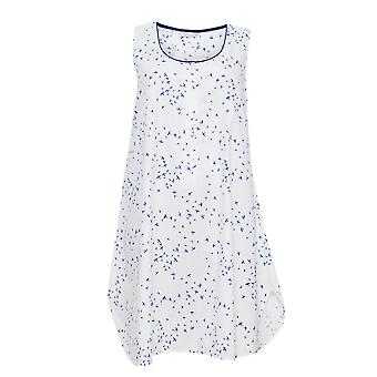 Cyberjammies 1266 Women's Nora Rose Adele White Bird Print Night Gown Loungewear Nightdress
