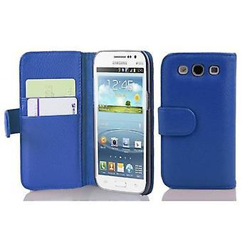 Cadorabo Hülle für Samsung Galaxy WIN -Handyhülle aus strukturiertem Kunstleder mit Standfunktion und Kartenfach – Case Cover Schutzhülle Etui Tasche Book Klapp Style