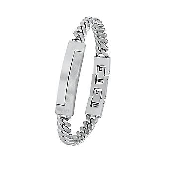 s.Oliver joia mens pulseira aço inoxidável ID pulseira 2024254