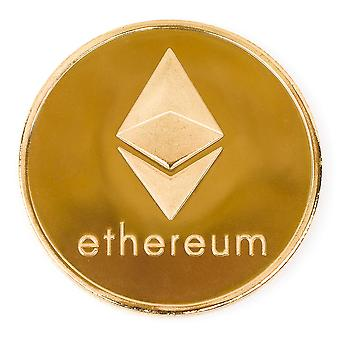 Ethereum Challenge Coin 24k Gold Plated Good Luck Souvenir or Golf Ball Marker