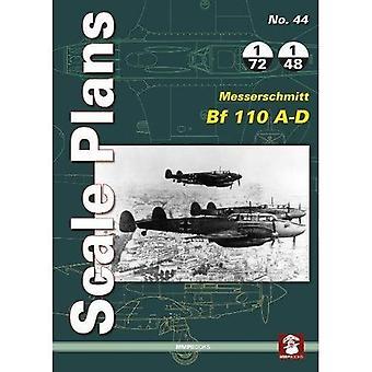 Scale Plans 44: Messerschmitt Bf 110 A-D (Scale Plans)