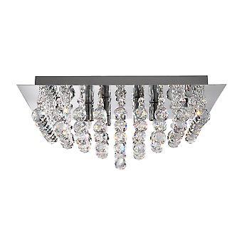 Hanna Chrome 8 luce Semi Flush Ceiling Fixture - Searchlight 6408-8CC