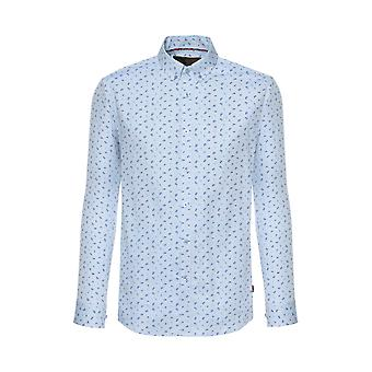 Merc GRIMSBY, long sleeve Oxford shirt with small paisley print and button-down collar