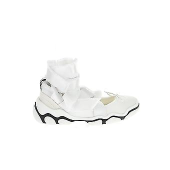 Red Valentino White Leather Hi Top Sneakers