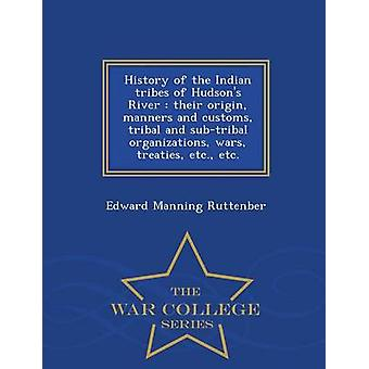 History of the Indian tribes of Hudsons River  their origin manners and customs tribal and subtribal organizations wars treaties etc. etc.   War College Series by Ruttenber & Edward Manning