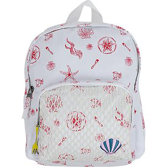 Roxy Girl x Disney Little Mermaid Always Core Canvas Backpack - Bright White