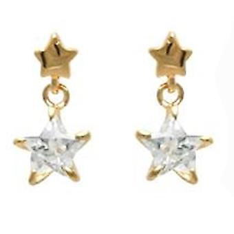 Ah! Bijoux Drop Star cristaux de Swarovski boucles d'oreilles