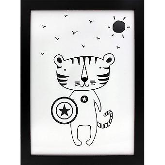 Grindstore Superheld Tiger Canvas Print
