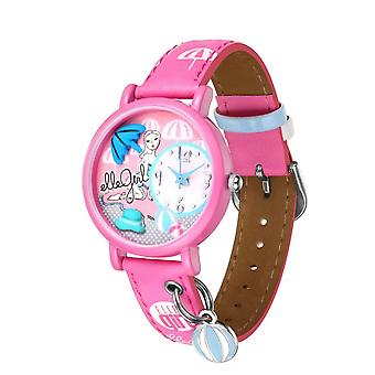 Elle Girl Analogue Girls Pink Picture Dial Print Design Strap Watch GW40060S02X