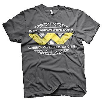 Mannen Aliens Wayland Yutani Corp retro T-shirt