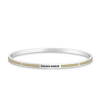 Oral Roberts University Golden Eagles Engraved Enamel Bracelet In Tan