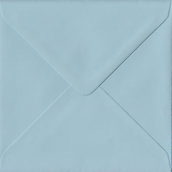 Baby Blue Gummed 130mm Square Coloured Blue Envelopes. 100gsm FSC Sustainable Paper. 130mm x 130mm. Banker Style Envelope.
