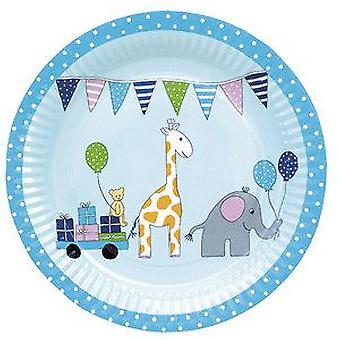 Jabadabado Blue verjaardag plaat (baby's en kinderen, kostuums)