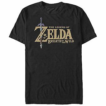 Nintendo Legend of Zelda Atem des wilden Logo T-Shirt schwarz