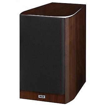 Heco Celan GT 302, 2 way bass reflex bookshelf speakers, color: espresso 2 piece B-stock